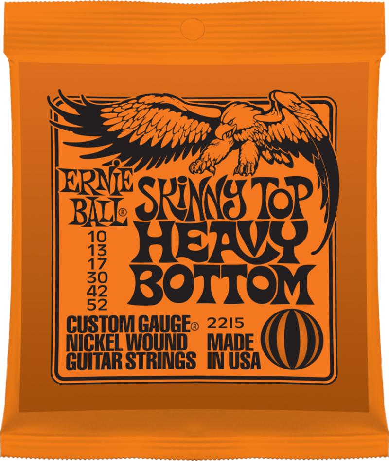 Ernie Ball 2215 струны для электрической гитары Nickel Wound Skinny Top Heavy Bottom (10-13-17-30-42-52) - Гитарные аксессуары и оборудование