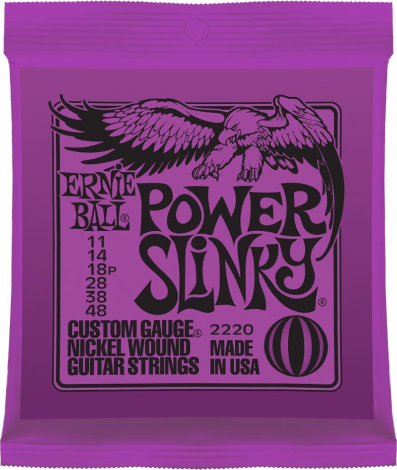 Ernie Ball Power Slinky Nickel Wound струны для электрической гитары (11-48) - Гитарные аксессуары и оборудование