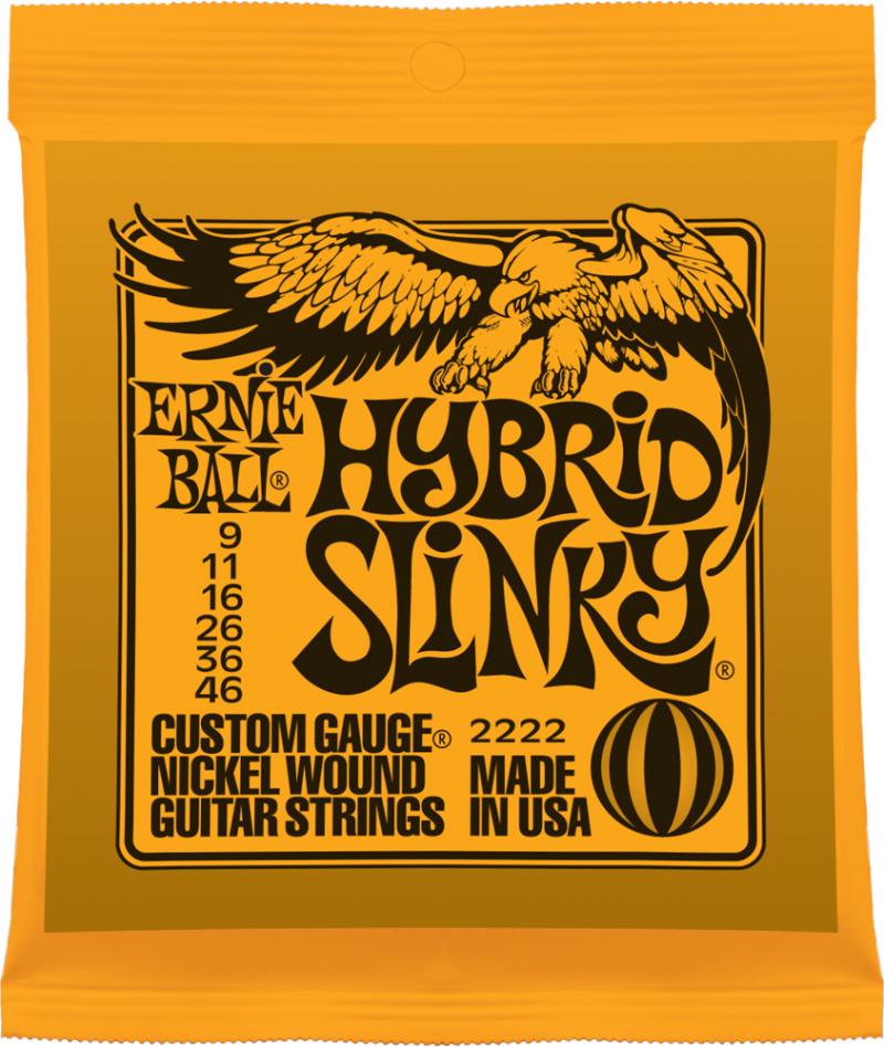 Ernie Ball Hybrid Slinky Nickel Wound струны для электрической гитары (9-46) - Гитарные аксессуары и оборудование