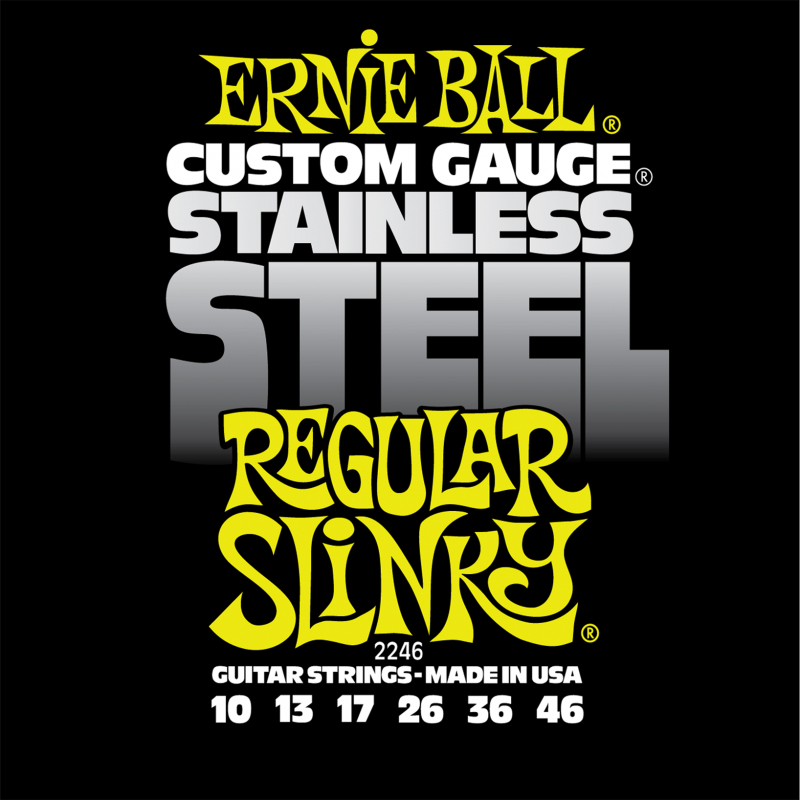 Ernie Ball Regular Slinky Stainless Steel Wound струны для электрической гитары (10-46) switzerland relogio masculino luxury brand wristwatches binger quartz full stainless steel chronograph diver clock bg 0407 3