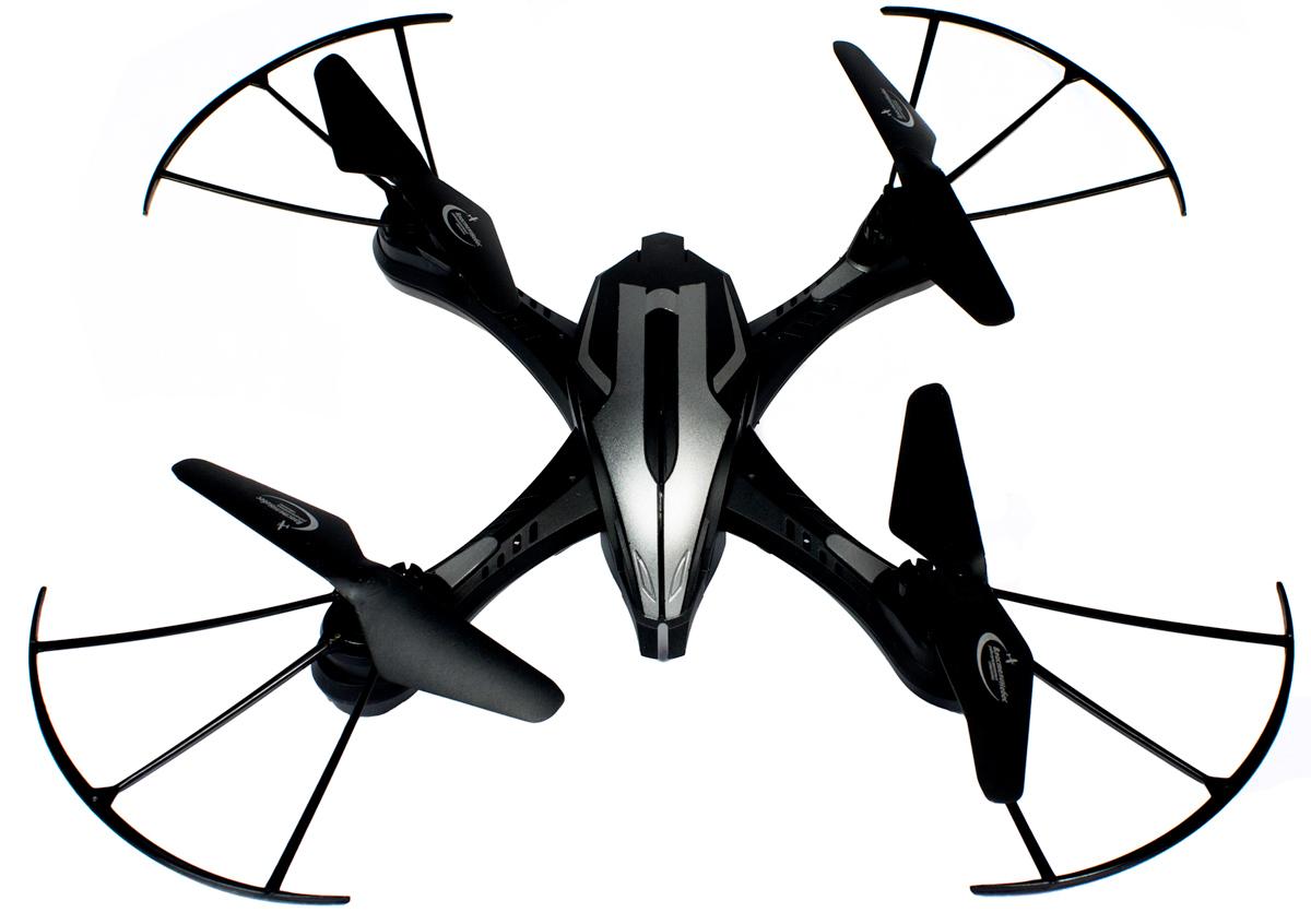 Властелин небес Квадрокоптер на радиоуправлении Хищник цвет черный