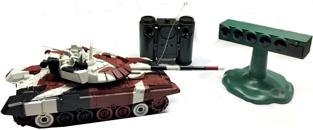 Властелин небес Танк на радиоуправлении Танковый Биатлон цвет черный - Радиоуправляемые игрушки
