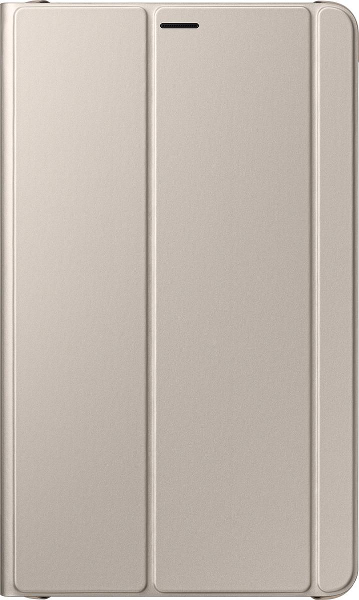 Samsung Book Cover EF-BT385 чехол для Samsung Galaxy Tab A 8.0(2017), GoldEF-BT385PFEGRUSamsung Book Cover – чехол, предназначенный для планшета Samsung Tab A 8 (2017). Он элегантно выглядит и обеспечивает надёжную защиту от пыли, грязи и механических воздействий. Благодаря ему на корпусе и дисплее не будет трещин, царапин, потёртостей и прочих дефектов. Универсальность.При необходимости аксессуар легко трансформируется в устойчивую подставку, делающую просмотр видео, чтение или веб-сёрфинг особенно удобным. Продуманная конструкция. Вы можете включать и выключать девайс, заряжать его, подключать к нему гарнитуру и пользоваться камерой на задней панели, не снимая при этом кейс.