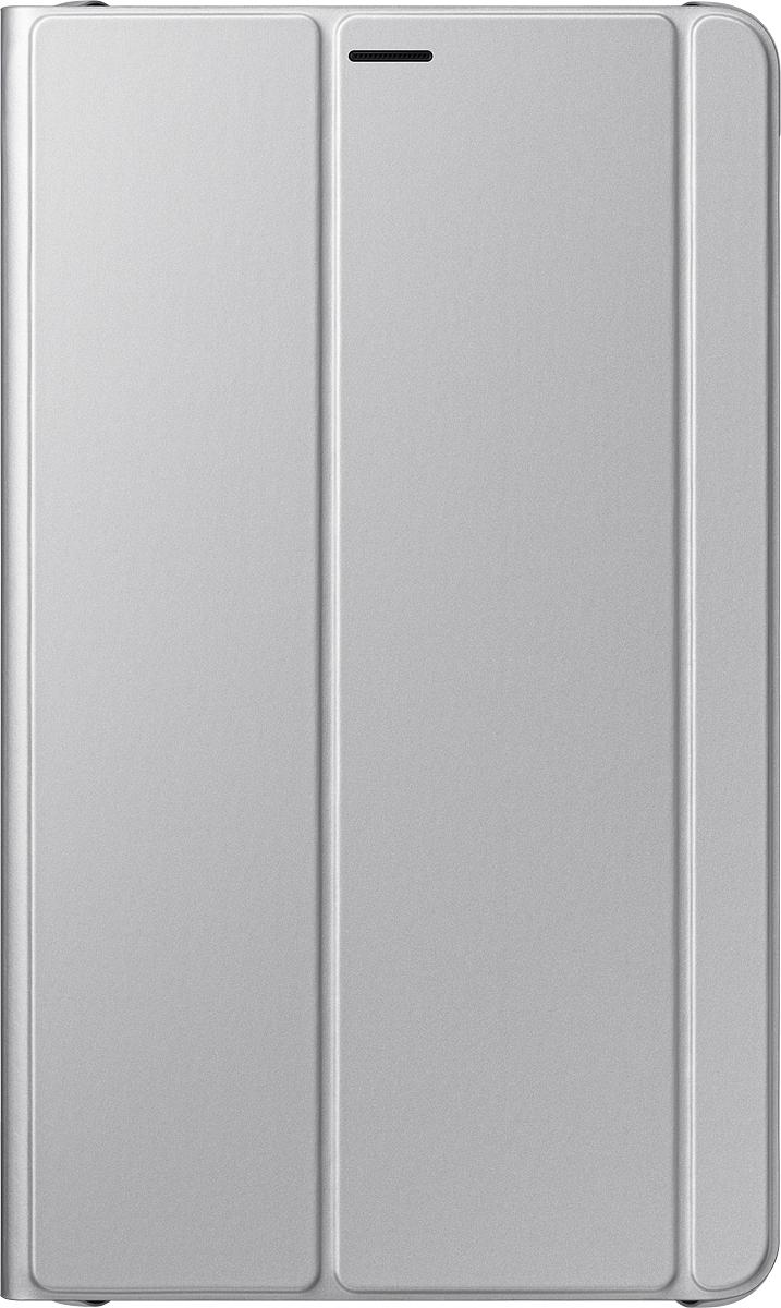 Samsung Book Cover EF-BT385 чехол для Samsung Galaxy Tab A 8.0 (2017), SilverEF-BT385PSEGRUSamsung Book Cover – чехол, предназначенный для планшета Samsung Tab A 8 (2017). Он элегантно выглядит и обеспечивает надёжную защиту от пыли, грязи и механических воздействий. Благодаря ему на корпусе и дисплее не будет трещин, царапин, потёртостей и прочих дефектов. Универсальность.При необходимости аксессуар легко трансформируется в устойчивую подставку, делающую просмотр видео, чтение или веб-сёрфинг особенно удобным. Продуманная конструкция. Вы можете включать и выключать девайс, заряжать его, подключать к нему гарнитуру и пользоваться камерой на задней панели, не снимая при этом кейс.
