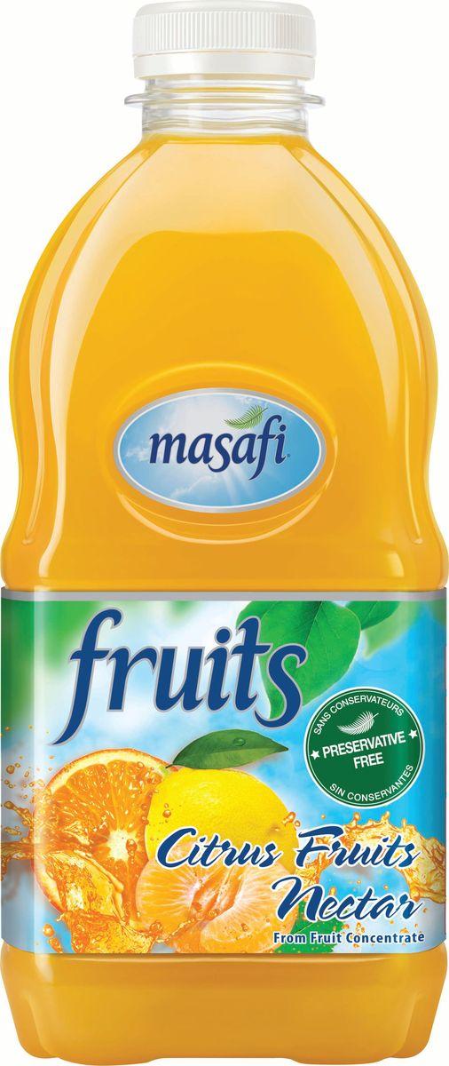 Masafi Нектар цитрус, 1 л6291001010547Masafi «Пикантный Цитрус» удивит Вас божественным вкусом свежих цитрусовых плодов. Прохладная смесь апельсина с мандарином и лимоном будоражит вкусовые рецепторы и с невероятной нежностью освежает. Яркое сочетание сочных цитрусов позволит утолить жажду с пользой для здоровья, а также станет превосходным диетическим напитком.Изготавливается и бутилируется в эмирате Рас-эль-Хайма, ОАЭ