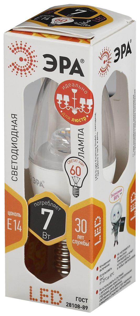 Лампа светодиодная ЭРА, цоколь E14, 170-265V, 7W, 2700К