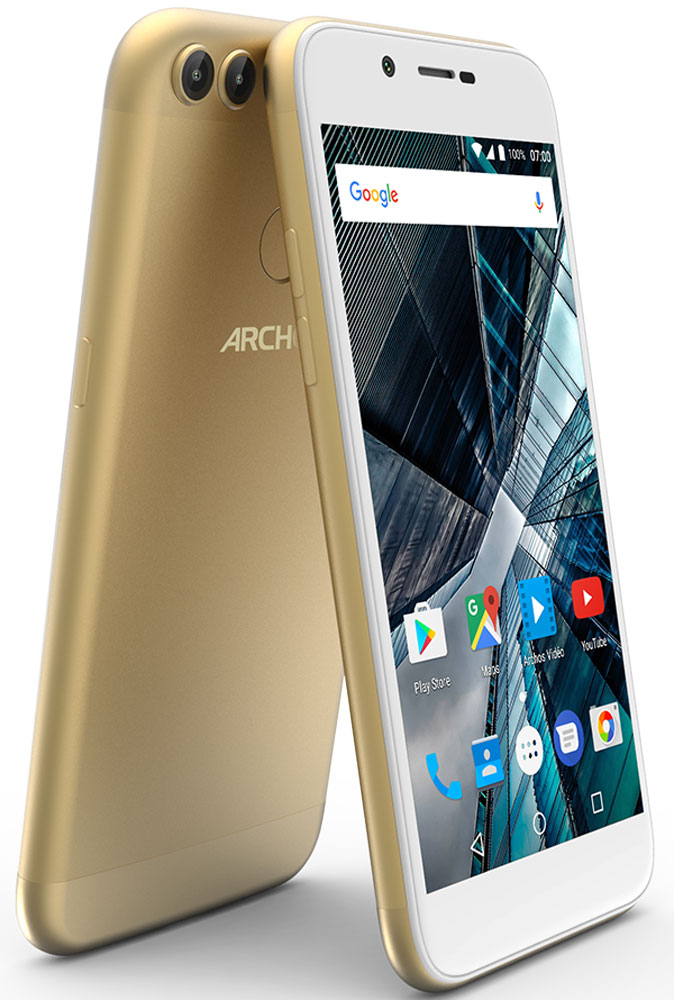 Archos Sense 50DC, Gold ноутбук hp probook 470 y8b04ea core i7 7500u 8gb 1tb 17 3 nv 930mx 2gb dvd dos