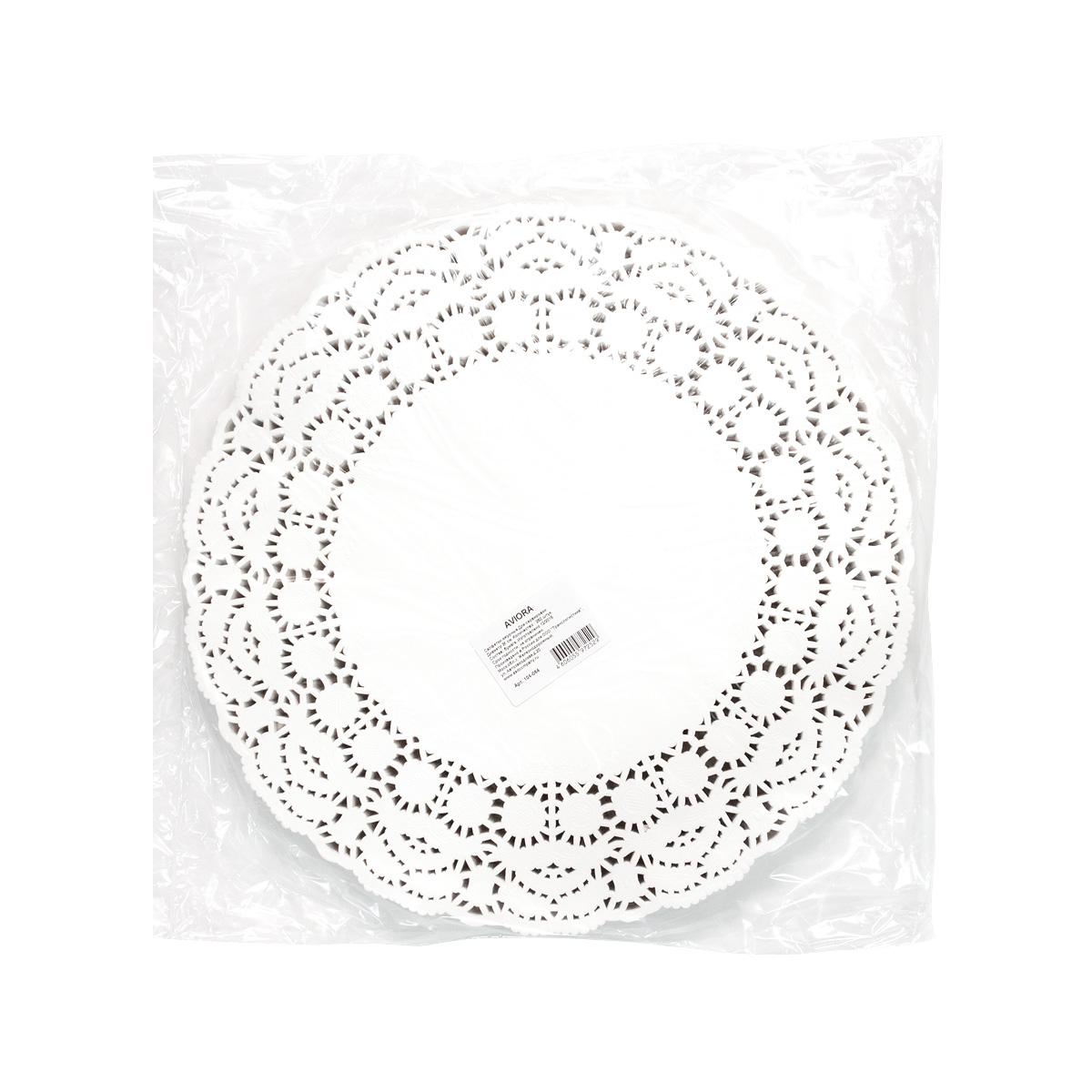 Салфетки бумажные Aviora, ажурные, диаметр 36 см, 250 шт104-064 Произведены в России безопасные при контакте с пищей изысканный узор по контуру салфетокПредназначены для сервировки стола.Используются для красивой подачи тортов и пирожных. Оригинально смотрятся столовые приборы. Небольшие диаметры используются для подачи чая / кофе.