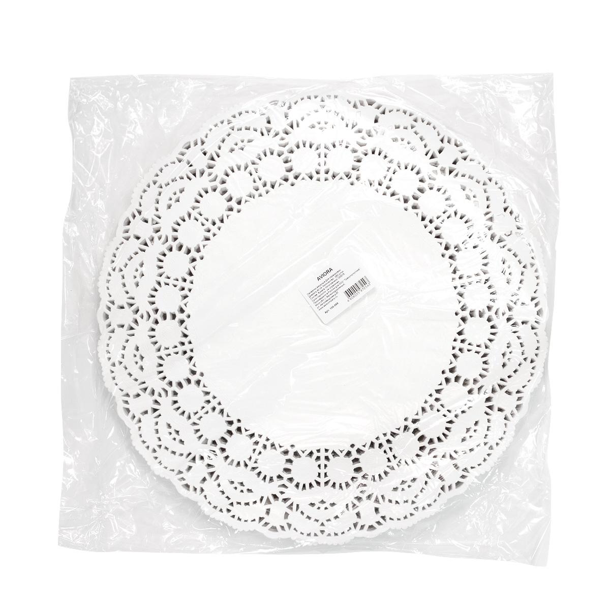 Салфетки бумажные  Aviora , ажурные, диаметр 40 см, 250 шт -  Товары для барбекю и пикника