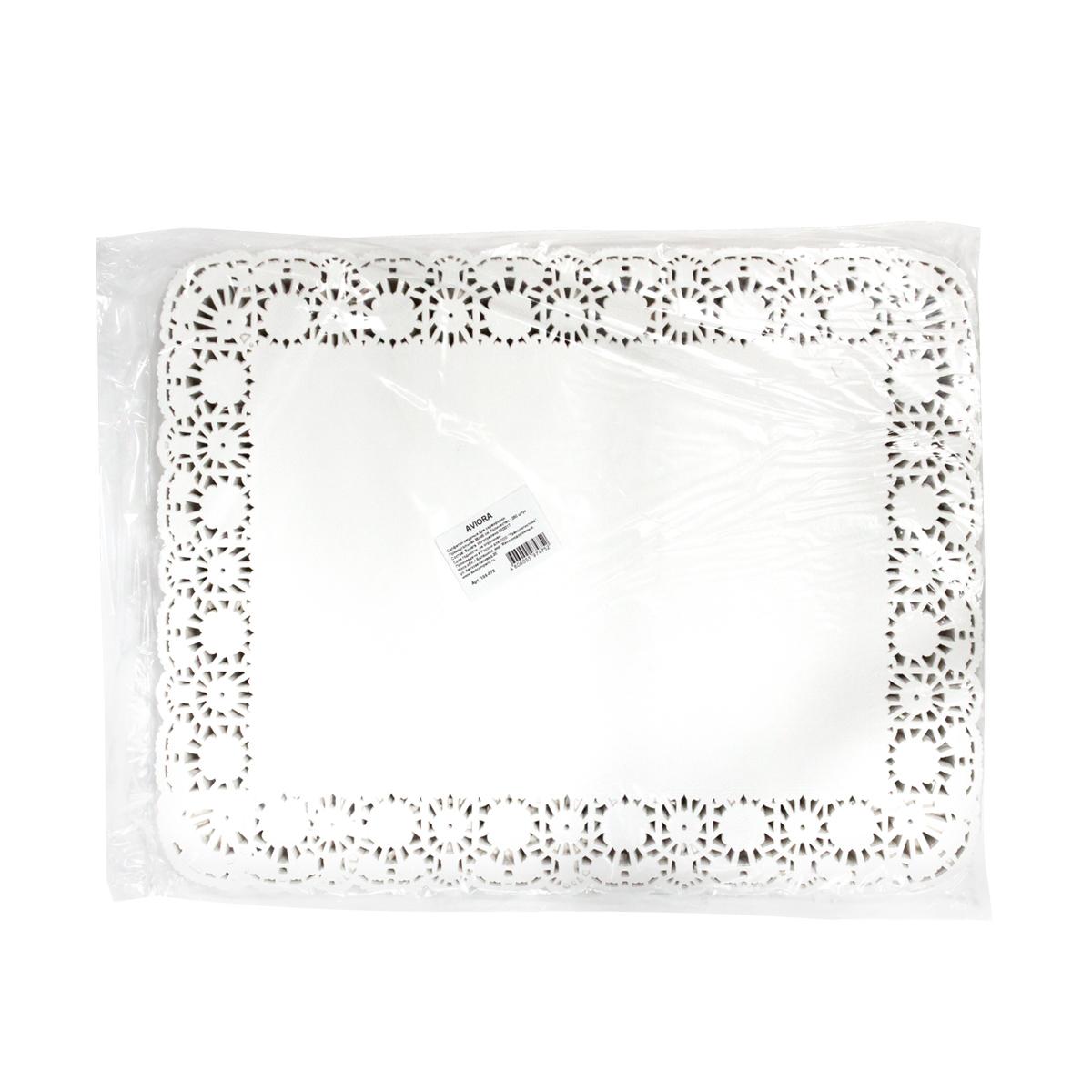 Салфетки бумажные  Aviora , ажурные, 35 х 45 см, 250 шт -  Товары для барбекю и пикника