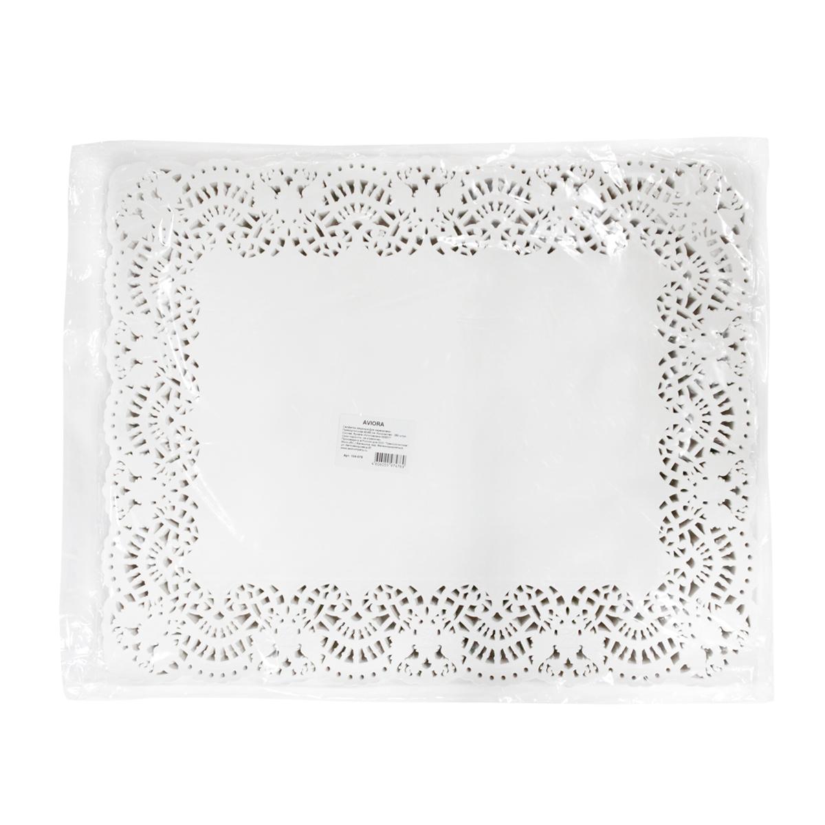 Салфетки бумажные  Aviora , ажурные, 40 х 50 см, 250 шт -  Товары для барбекю и пикника