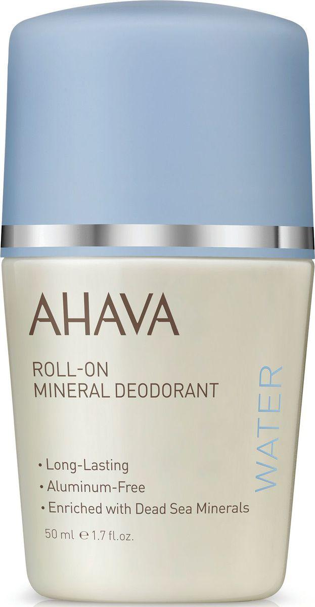 Ahava Deadsea Water Дезодорант шариковый минеральный для женщин, 50 мл кремы ahava deadsea water минеральный крем для тела кактус и розовый перец 250 мл