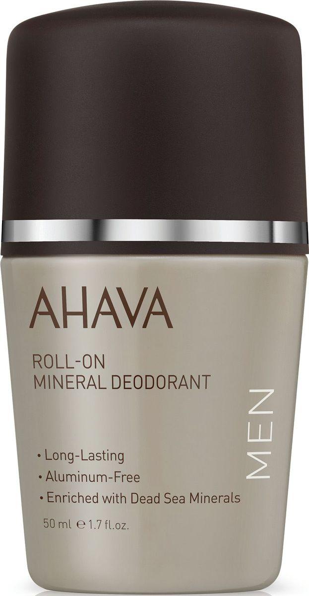 Ahava Time To Energize Дезодорант шариковый минеральный для мужчин, 50 мл минеральный дезодорант твердый 60 г