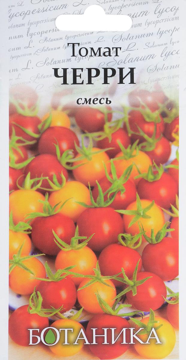 Семена Ботаника Томат. Черри смесь4660010774191Смесь скороспелых сортов (Вишня красная, Вишня желтая и Вишенка черная), период от всходов до сбора урожая 95-100 дней. Растение высокорослое, высотой более 200 см. Плоды мелкие, массой 20 г, округлые, собраны в кисти по 20-40 плодов. Вкусовые качества отличные. Сорта отличаются длительным периодом плодоношения.Используется в свежем виде и для консервирования. Рекомендуется для выращивания в теплицах и открытом грунте.Культура требовательна к теплу, предпочитает хорошо окультуренные плодородные почвы.На рассаду семена высевают в конце марта - начале апреля. Пикировка в фазе 1-2 настоящих листьев.Высадка рассады в грунт или контейнер в возрасте 55-70 дней.Схема посадки в грунт 50 x 40 см.Уход заключается в пасынковании, подвязывании, подкормках и поливе. Уважаемые клиенты! Обращаем ваше внимание на то, что упаковка может иметь несколько видов дизайна. Поставка осуществляется в зависимости от наличия на складе.