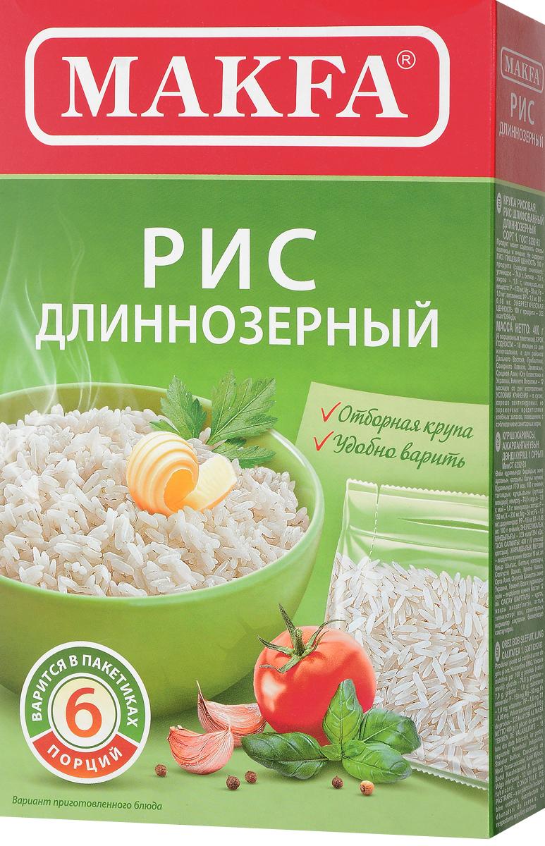 Makfa рис длиннозерный шлифованный в пакетиках для варки, 400 г101-4_6 порций, длиннозернистыйКрупа продолговатой формы хорошо сохраняет форму во время варки. Нежный вкус свежесваренного риса помогает хорошо раскрыться другим ингредиентам блюда. Применяется чаще в несладких блюдах.Лайфхаки по варке круп и пасты. Статья OZON Гид