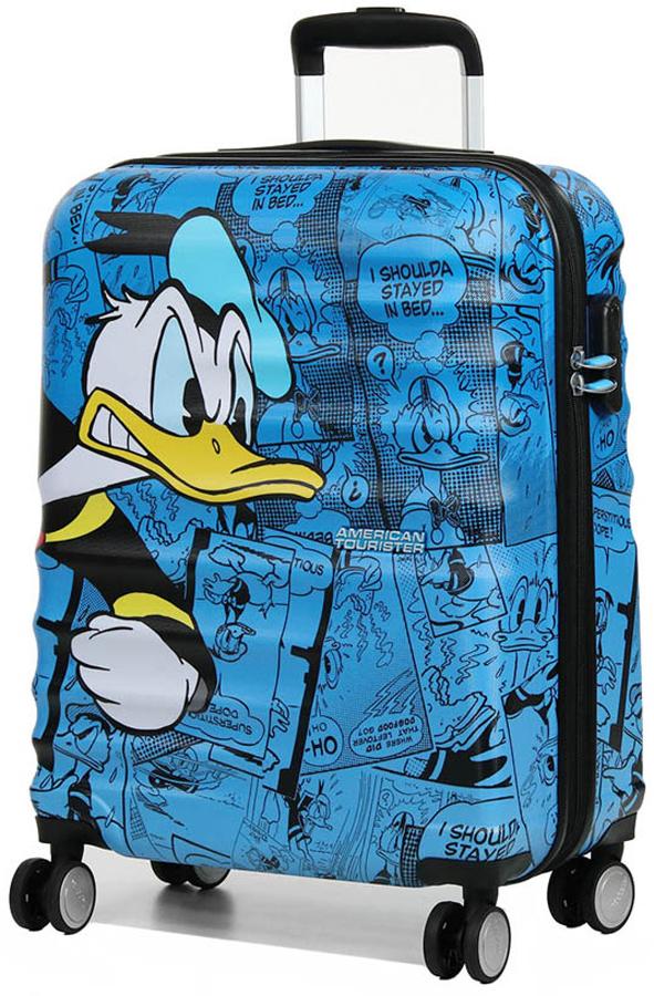 Чемодан Disney by American Tourister Wavebreaker Disney. Доналд Дак, цвет: синий, черный, 36 л. 31C-01001 ручки disney подарочная ручка disney дэйзи дак