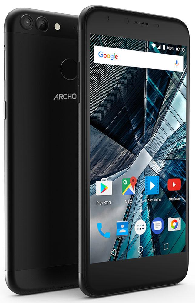 Archos Sense 55DC, BlackSense 55DCКрасивый 5,5-дюймовый HD-экран Archos Sense 55DC идеально подходит для интернет-сёрфинга в дороге.Для быстрой и надежной работы Archos Sense 55DC оснащен 4-ядерным процессором.Воспользуйтесь высокой скоростью интернета для доступа к онлайн-контенту благодаря поддержке сетей 4G/LTE.Система Dual Lens Camera, представленная в смартфонах линейки Graphite, позволяет увековечить лучшие моменты жизни. Задняя камера Samsung 13MP передаст все детали и оттенки цветов, а второй сенсор обеспечит идеальную фокусировку.Archos Sense 55DC оснащен сканером отпечатка пальца последнего поколения, который разблокирует телефон быстрее, чем за 0.3 секунды. Благодаря возможности запоминания сканером до пяти разных отпечатков, вам больше не надо задумываться, как удобнее взять смартфон.Корпус Archos Sense 55DC является ультратонким - всего 7,8 мм. А благодаря USB Type-C у вас появляется возможность максимально быстрой передачи данных! Теперь вы не потеряете ни секунды!Как сделать Android еще больше соответствующим своим требованиям? Использовать Android Nougat - последний релиз операционной системы. Нет ничего проще, чем настроить экран или определить, как устройство будет оповещать вас в различных ситуациях. Интересное нововведение: двойное нажатие на кнопку обзора - и вы можете работать с двумя приложениями одновременно: например, переписываться, пока смотрите фильм. Улучшенная безопасность и оптимизация работы батареи позволяют получить максимум от Android!Смартфон сертифицирован EAC и имеет русифицированный интерфейс меню и Руководство пользователя.
