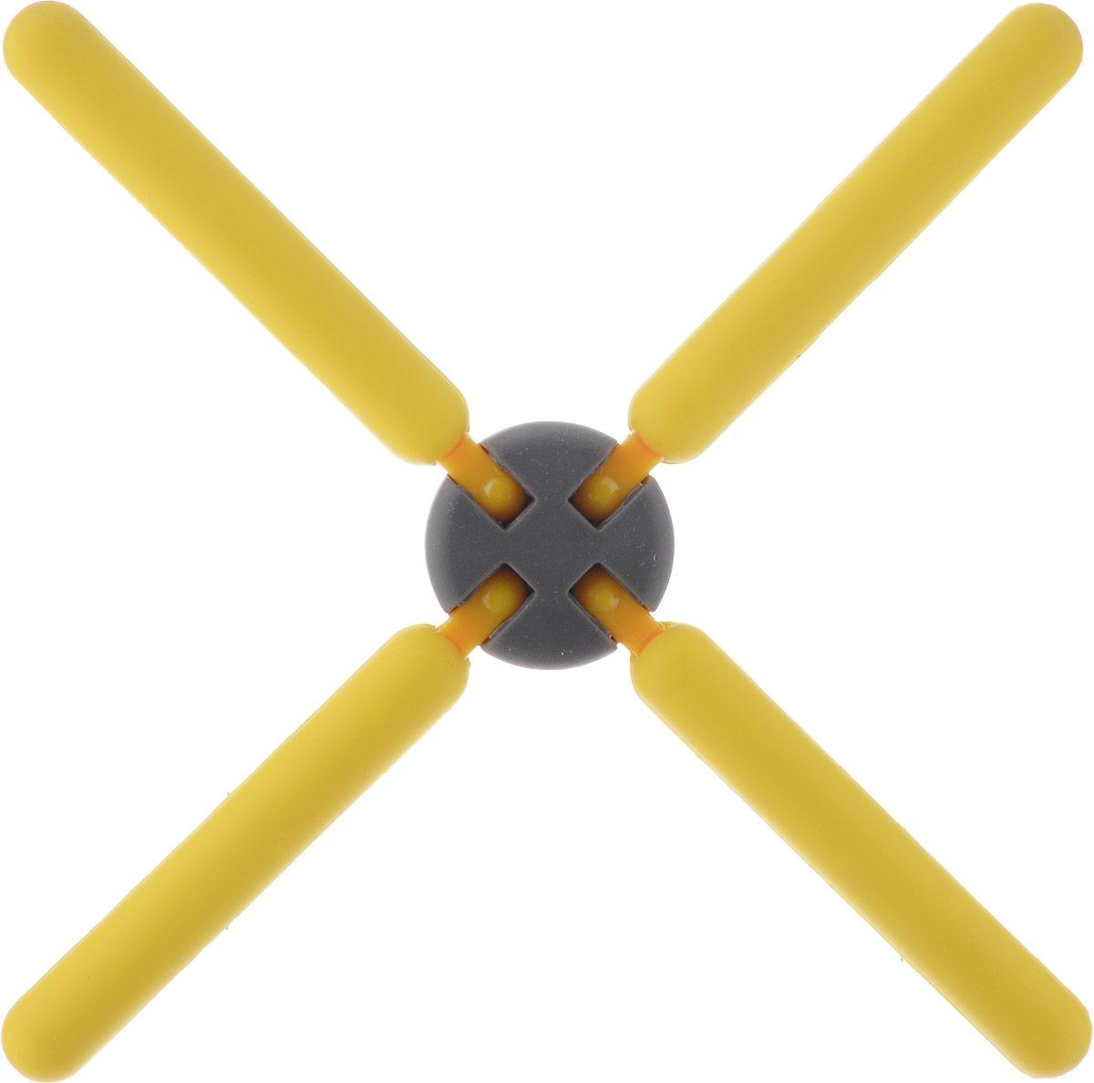 Подставка под горячее Mayer & Boch, цвет: желтый, 22 см. 21939-221939-2Подставка под горячее Mayer & Boch изготовлена из термостойкого силикона. Имеет красивый дизайн, яркие цвета.Подставка оформлена в виде 4 палочек, соединенных в середине.Складная. Занимает мало места.Раскладывается на 4 стороны.