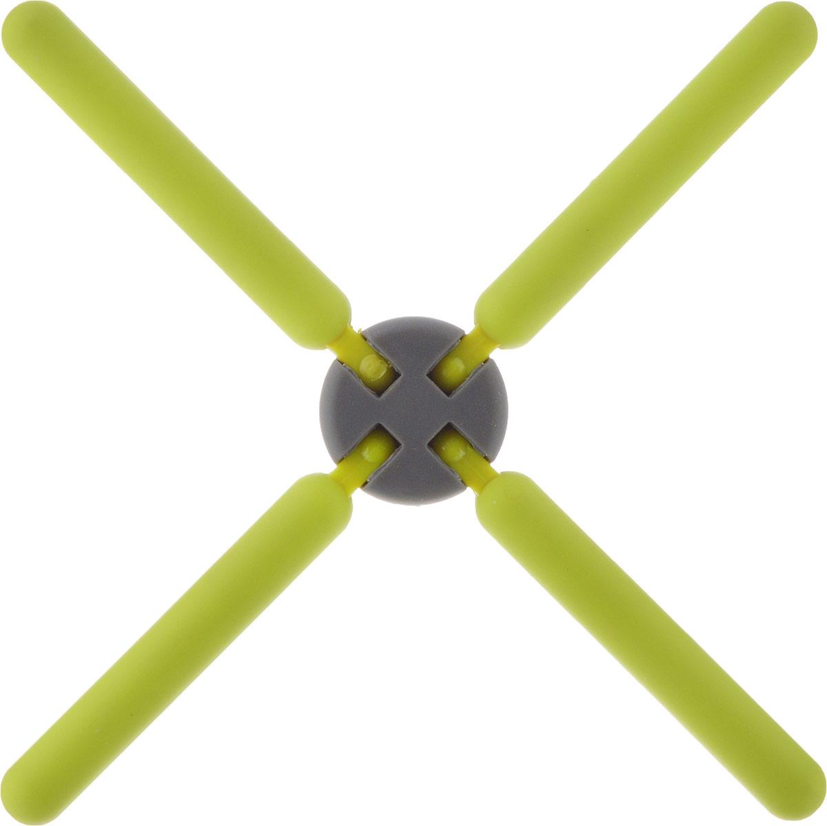 Подставка под горячее Mayer & Boch, цвет: светло-зеленый, 22 см. 21939-121939-1Подставка под горячее Mayer & Boch изготовлена из термостойкого силикона.Имеет красивый дизайн, яркие цвета. Подставка оформлена в виде 4 палочек, соединенных в середине. Складная. Занимает мало места. Раскладывается на 4 стороны.