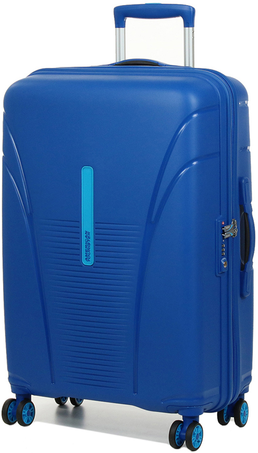 Чемодан American Tourister Skytracer, цвет: синий, 63 л. 22G-01002 чемодан american tourister bon air цвет темно синий 84 л 85a 41003