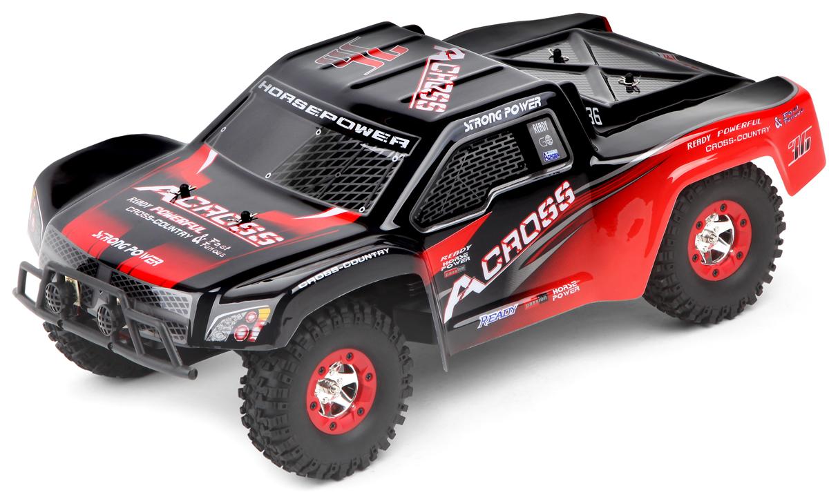 Wltoys Машинка на радиоуправлении 4WD Truck 12423 цвет черный красный масштаб 1:12 wltoys машинка на радиоуправлении 2019 цвет черный