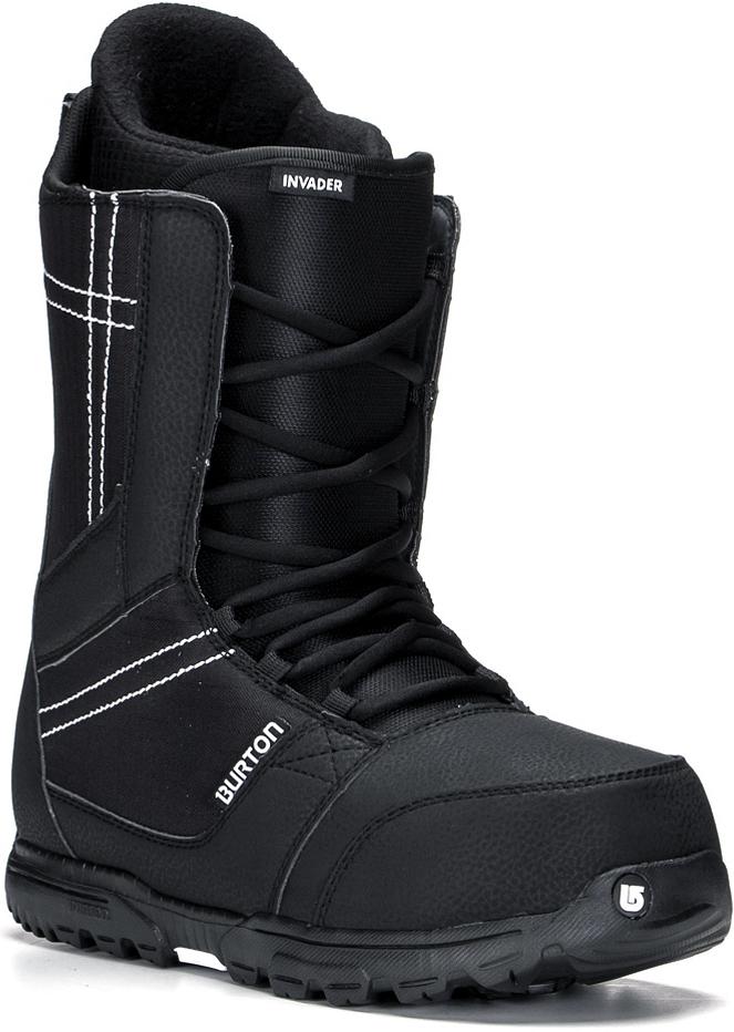 Ботинки для сноуборда Burton Invader. Размер 12 (45)TechnoЭти ботинки подойдут не только новичкам, но прогрессирующим райдерам. Достаточно мягкие ботинки с гибким язычком обеспечат максимальную свободу движений во время катания и выполнения трюков. Стелька из вспененного материала EVA в сочетании c виброгасящими вставками подошвы Dynolite позволит ноге отлично чувствовать себя даже во время жестких приземлений.Total Comfort Construction: конструкция этих ботинок предполагает удобство ношения с первого дня без дополнительной подгонки ботинка.Технология Snow-Proof Internal Gusset защищает от попадания внутрь ботинка снега и влаги.Виброгасящая стелька из вспененного материала EVA.Традиционная шнуровка.Мягкий и гибкий язычок.Внутренник Imprint 1 с интегрированной шнуровкой.Жесткость 2.Как выбрать сноуборд. Статья OZON Гид