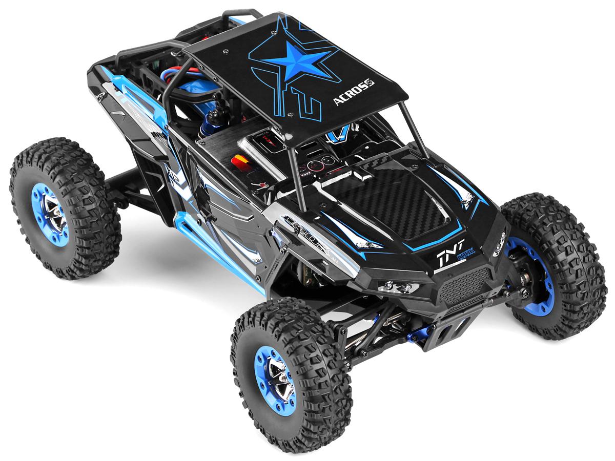 Wltoys Машинка на радиоуправлении 4WD A12428-B Polestar Car цвет черный синий масштаб 1:12