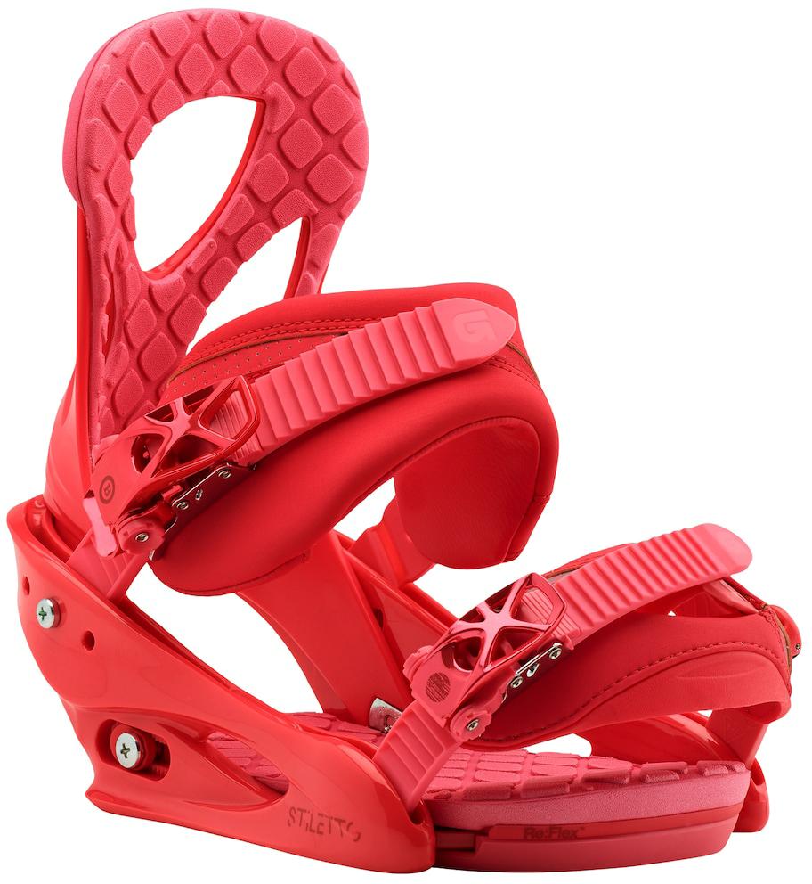 Крепления для сноуборда Burton Stiletto, цвет: красный. Размер S10548104612Одни из самых популярных креплений Burton для прогрессирующих девушек-райдеров обладают всеми необходимыми настройками, а также легкостью, удобством и привлекательным внешним видом. Их конструкция разработана с учетом особенностей катания и потребностей женской ступни, формованные стрэпы отлично держат ботинок, хайбэки повторяют анатомические особенности правой и левой ног, а средняя жесткость приносит идеальный баланс между комфортом и отзывчивостью.Re:FLEX-версия креплений отличается уменьшенным весом и высоким уровнем отзывчивости доски, так как жесткость теперь не влияет на способность доски прогибаться. И конечно же это полная универсальность - крепления можно поставить на доски любых производителей.Параметры:Женские крепления для сноубордаЖесткость: средняяЛегкая база из поликарбоната Bomb-proofТехнология креплений Re:FLEX: уменьшенный вес и высокий уровень отзывчивости доски, так как жесткость креплений теперь не влияет на способность доски прогибатьсяКонструкция креплений True Fit разработана с учетом анатомических особенностей женской ногиОднокомпонентная конструкция хайбэка для лучшей отзывчивостиХайбэк Canted повторяет анатомические особенности правой и левой ногРегулировка наклона хайбэка MicroFLADДизайн True Fit: общий дизайн и внутренняя часть крепления разработана с учетом особенностей катания и потребностей женской ступниФормованные стрепы Lushstrap с наполнителем из вспененного материала EVAКонструкция стрепов Flex Slider для удобства встегивания в крепленияНижний стреп Gettagrip Capstrap: формованный и цепкийЛегкие металлические бакли со вставками из поликарбоната Smooth Glide разработаны компанией Burton и готовы работать мягко и надежно не один сезонАмортизирующая вставка FullBED из вспененного материала EVA повторяет форму подошвы ботинка, обеспечивая высокий уровень амортизации; легко снимается без дополнительных инструментов.