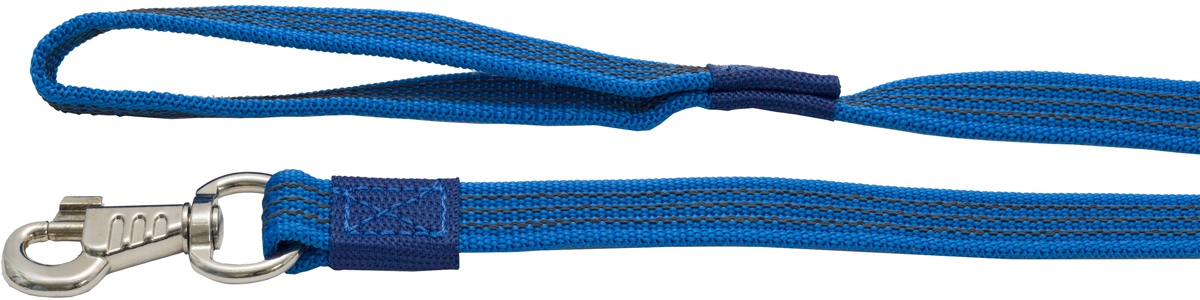 Поводок для собак Каскад, цвет: синий, ширина 2 см, длина 5 м поводок для собак каскад классика двухсторонний со стальным карабином ширина 2 см длина 1 2 м