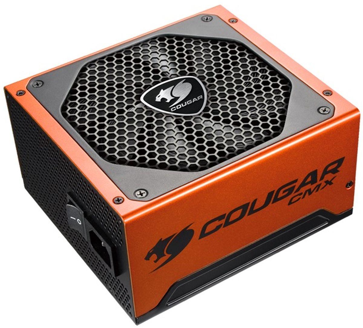 Cougar CMX 550 блок питания для компьютераCUCMX550Блоки питания Cougar CMX 550 с форм-фактором ATX оснащены активной системой охлаждения –140-миллиметровый кулер обеспечивает стабильную, долговременную работоспособность блока питания.Блок питания Cougar CMX 550 имеет активный PFC, который необходим для выполнения коррекции фактора защиты. Он оборудованы защитой от перенапряжения, перегрузки, а также короткого замыкания. Основной слот прибора – 20+4-пиновый, гнездо питания видеокарты 2х6+2-пиновое, а у процессора разъем 1х4+4-пиновый. Разработан в фирменном оранжевом цвете, что эффектно выглядит в корпусах с боковым окном. Как собрать игровой компьютер. Статья OZON Гид