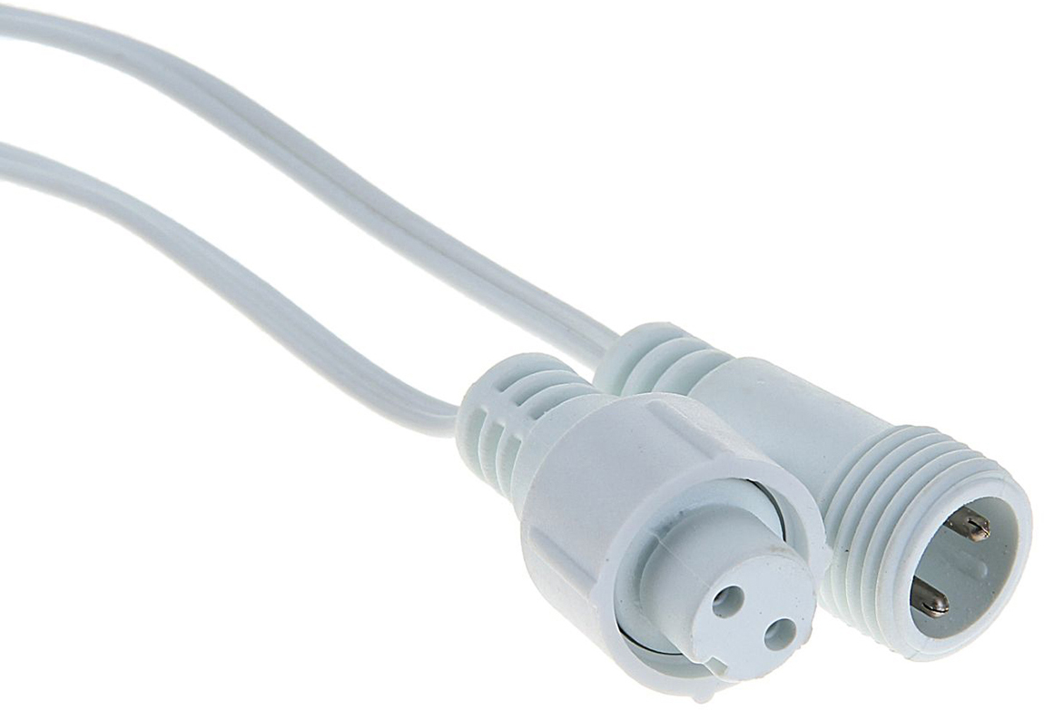 Удлинитель для гирлянд УМС Luazon Lighting, 2W, нить белая, 1 метр1080660Вам необходимо подключить гирлянду, но источник питания находится далеко от предполагаемой светящейся композиции? удлинитель поможет вам воплотить задуманное! Вы найдёте удлинители от 1 до 10 метров. Подберите подходящий по цвету провод, внимательно сопоставьте разъём УМС вилки удлинителя и гирлянды (бывают типов 2W и 3W, что указано в наименовании). Сочетая удлинитель с разветвителем для гирлянд и контроллером, вы сможете нарядно оформить праздничный зал, фасад здания или иное пространство или крупный объект.