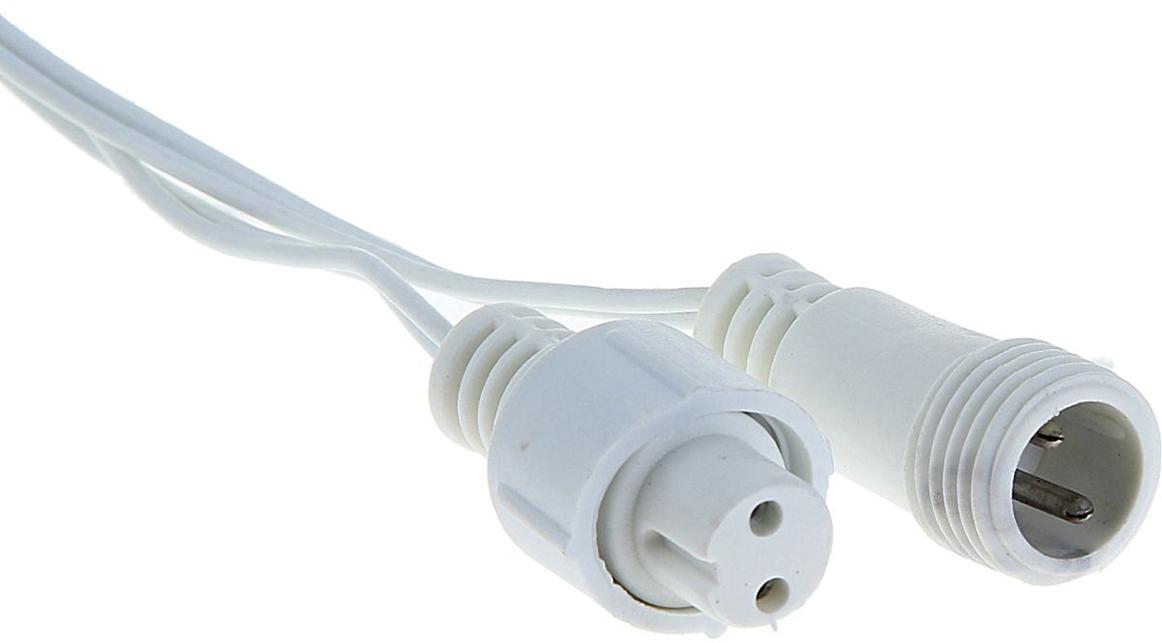 Удлинитель для гирлянд УМС Luazon Lighting, 2W, нить белая, 5 метров1080662Вам необходимо подключить гирлянду, но источник питания находится далеко от предполагаемой светящейся композиции? удлинитель поможет вам воплотить задуманное! Вы найдёте удлинители от 1 до 10 метров. Подберите подходящий по цвету провод, внимательно сопоставьте разъём УМС вилки удлинителя и гирлянды (бывают типов 2W и 3W, что указано в наименовании). Сочетая удлинитель с разветвителем для гирлянд и контроллером, вы сможете нарядно оформить праздничный зал, фасад здания или иное пространство или крупный объект.