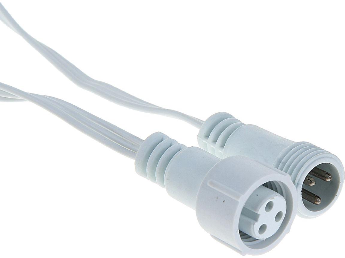 Удлинитель для гирлянд УМС Luazon Lighting, 3W, нить белая, 1 метр1080668Вам необходимо подключить гирлянду, но источник питания находится далеко от предполагаемой светящейся композиции? удлинитель поможет вам воплотить задуманное! Вы найдёте удлинители от 1 до 10 метров. Подберите подходящий по цвету провод, внимательно сопоставьте разъём УМС вилки удлинителя и гирлянды (бывают типов 2W и 3W, что указано в наименовании). Сочетая удлинитель с разветвителем для гирлянд и контроллером, вы сможете нарядно оформить праздничный зал, фасад здания или иное пространство или крупный объект.