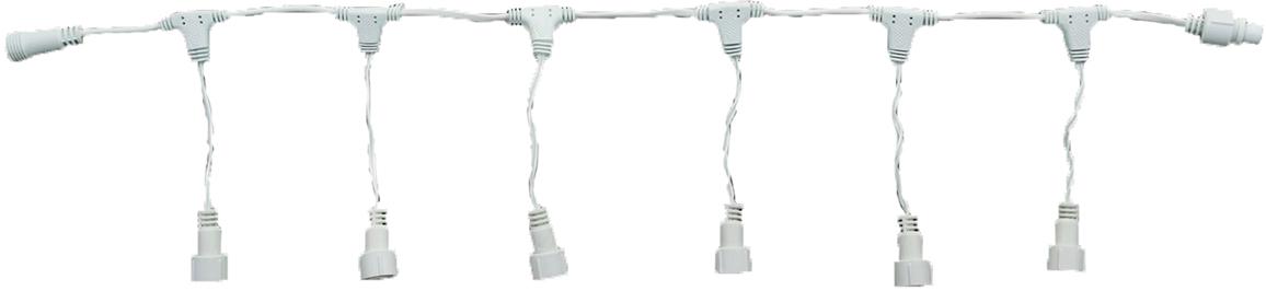 Разветвитель для гирлянд УМС Luazon Lighting, 2W, нить белая, 1 вход, 6 выходов1080686Разветвитель нужен для создания огромного сияющего шлейфа. Это удобное приспособление необходимо тем, кому хочется нарядно оформить праздничный зал, фасад здания или иное пространство или крупный объект. Ассортимент магазина включает устройства для подключения от 2 до 12 гирлянд через УМС разъём. Подобрать необходимый разветвитель легко: решите: какое количество гирлянд вы желаете подключить. выберите цвет провода, гармонирующий с цветом гирлянды, рассмотрите необходимый разъём УМС вилки (2W или 3W) . Схемы использования разветвителя Контроллер+разветвитель+гирлянды. Контроллер+разветвитель+удлинители+гирлянды. Количество подключаемых гирлянд должно соответствовать техническим характеристикам контроллера (количество LED)! В примечании и названии каждой УМС и уличной гирлянды указан подходящий контроллер, максимальное количество подключаемых к нему гирлянд, тип вилки (2W, 3W и т. д.).