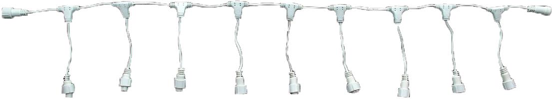 Разветвитель для гирлянд УМС Luazon Lighting, 2W, нить белая, 1 вход, 9 выходов1080687Разветвитель нужен для создания огромного сияющего шлейфа. Это удобное приспособление необходимо тем, кому хочется нарядно оформить праздничный зал, фасад здания или иное пространство или крупный объект. Ассортимент магазина включает устройства для подключения от 2 до 12 гирлянд через УМС разъём. Подобрать необходимый разветвитель легко: решите: какое количество гирлянд вы желаете подключить. выберите цвет провода, гармонирующий с цветом гирлянды, рассмотрите необходимый разъём УМС вилки (2W или 3W) . Схемы использования разветвителя Контроллер+разветвитель+гирлянды. Контроллер+разветвитель+удлинители+гирлянды. Количество подключаемых гирлянд должно соответствовать техническим характеристикам контроллера (количество LED)!
