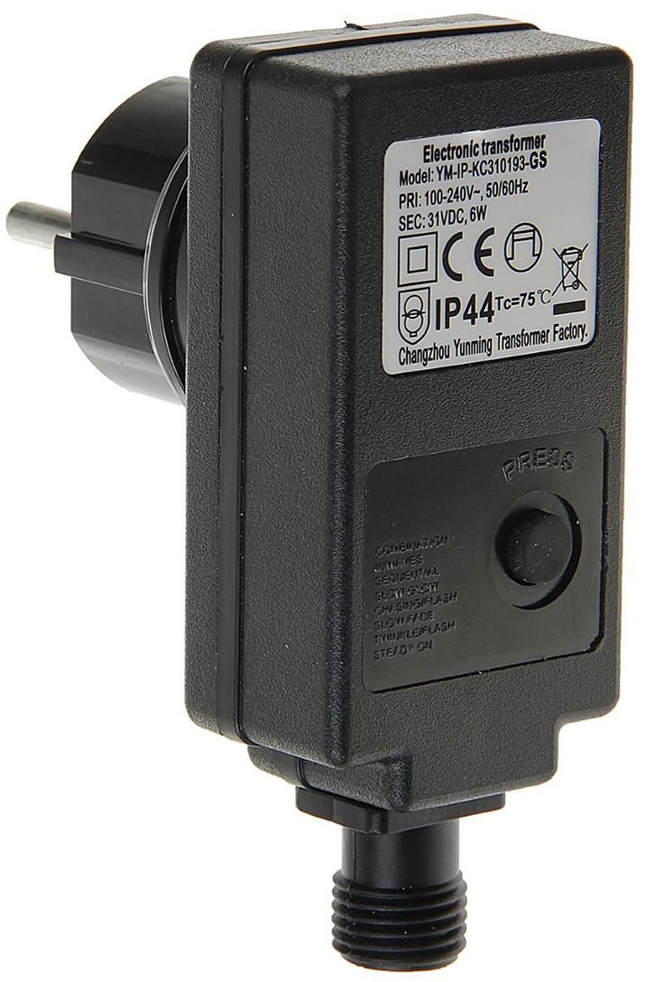 Трансформатор комнатный для гирлянд Luazon Lighting, 220/24 В, 6 Вт, нить темная, 2W, черный трансформатор понижающий 1квт в украине