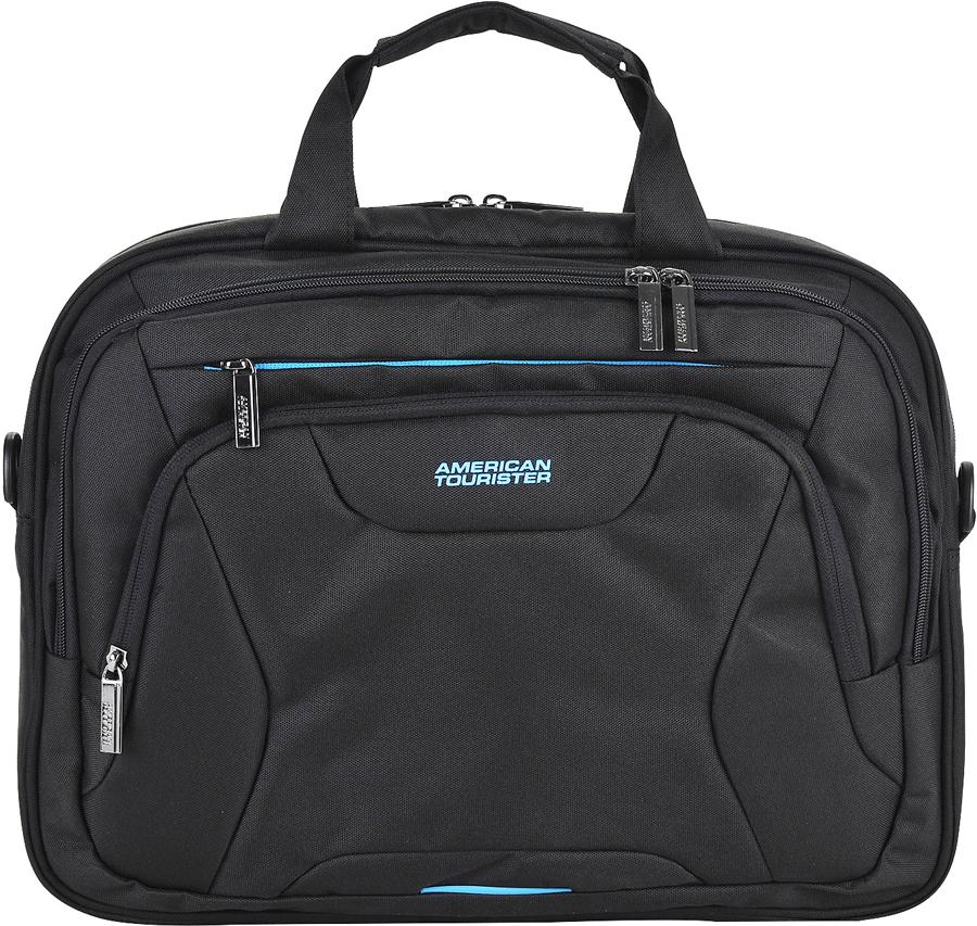Сумка для ноутбука American Tourister AT Work, цвет: черный, 15 л. 33G-09005