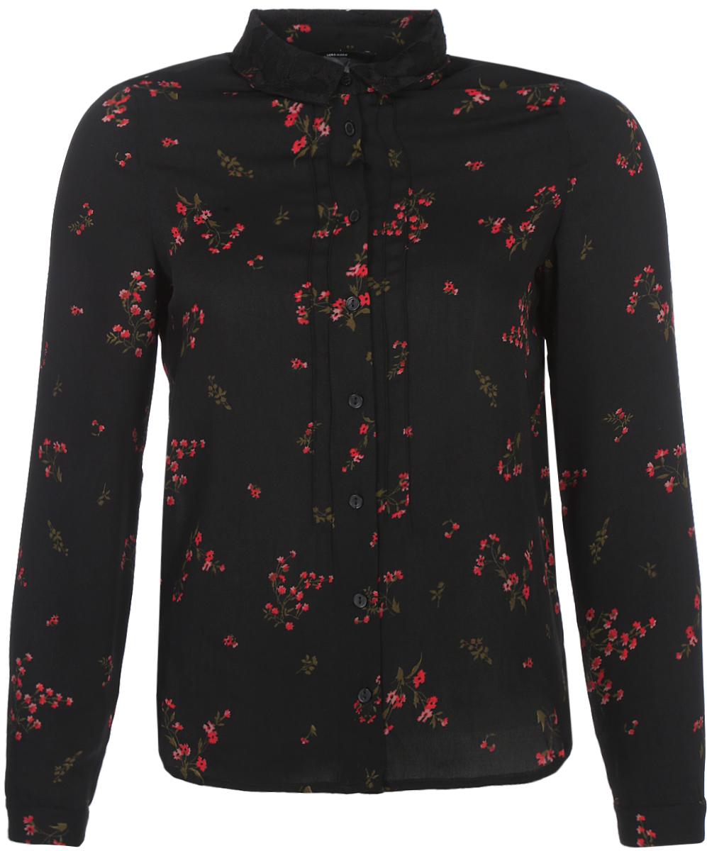Блузка женская Vero Moda, цвет: черный. 10189784_Black. Размер 42/44 vero moda свитер с длинными рукавами