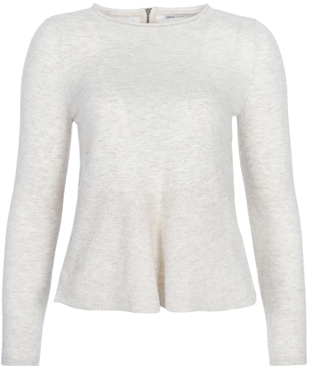 Джемпер женский Only, цвет: серый. 15140098_Whitecap Gray. Размер 42/44 only