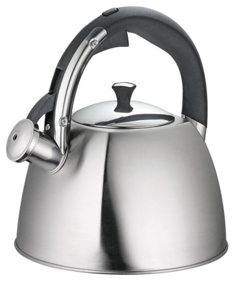 Чайник Regent Inox Linea Tea, со свистком, цвет: серебристый, 3 л93-TEA-30Чайник Linea TEA от Regent Inox подходит не только для того, чтобы вскипятить воду и напоить вкусным чаем своих родных, но и для украшения вашей кухни. Посуда сделана из качественной нержавеющей стали 18/10, а также он подходит для всех видов плит. Материал нержавеющая сталь обладает массой достоинств, например, высокая теплопроводность, которая и обеспечивает быстрое закипание, ручка -бакелит. Нержавеющая сталь также стойка к коррозии и кислотам, прочна и долговечна
