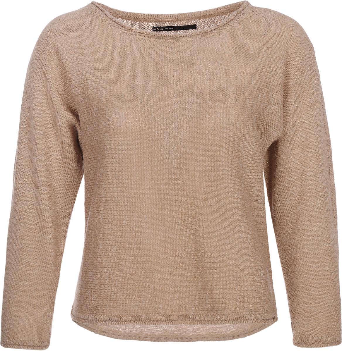 Джемпер женский Only, цвет: коричневый. 15139135_Indian Tan. Размер S (42/44) женский гардероб