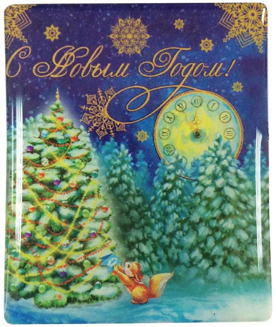 Магнит декоративный Белочка в лесу, 6 х 5 см декоративный магнит новогодний подарок 6 см х 5 см 31544