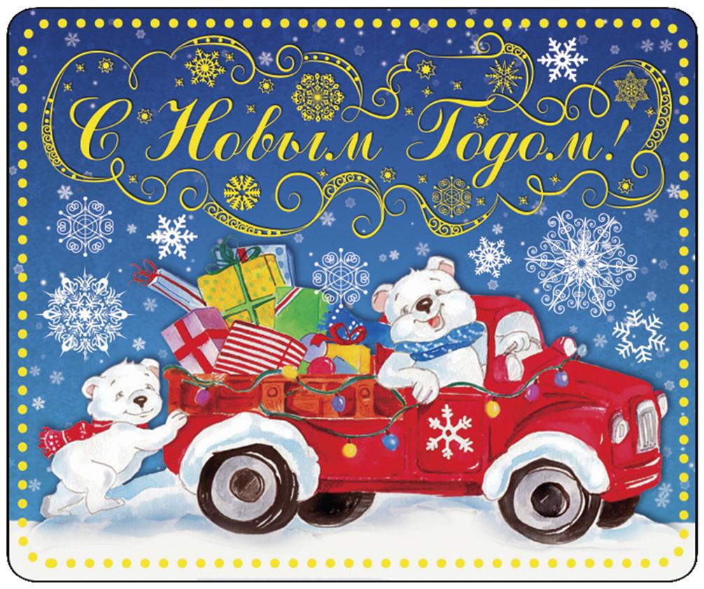 Магнит декоративный Северный мишка на машинке, 5 х 6 см декоративный магнит новогодний подарок 6 см х 5 см 31544