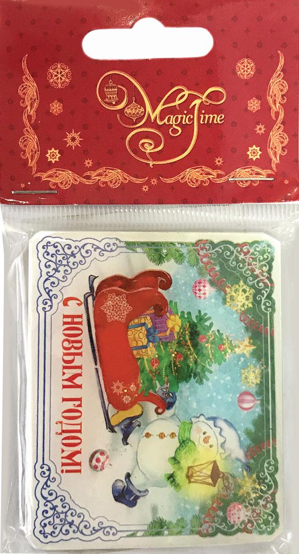 Магнит декоративный Снеговик с фонарем, 5 х 6 см декоративный магнит новогодний подарок 6 см х 5 см 31544