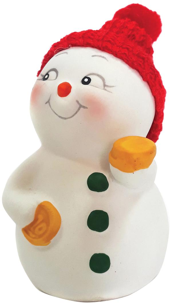 Фигурка новогодняя Снеговик с монетами, 8 см41745Фигурка новогодняя Снеговик с монетами, 8см, керамика, 41745Декоративная фигурка Снеговик с монетами.Высота - 8 см.Материал - керамика.