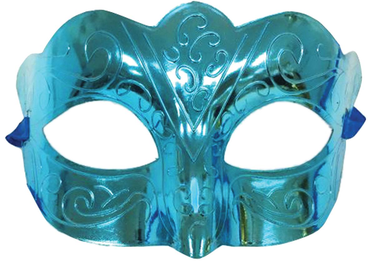 Маска карнавальная  Блестящая бирюза , 15,5 х 9 х 7,5 см -  Маски карнавальные