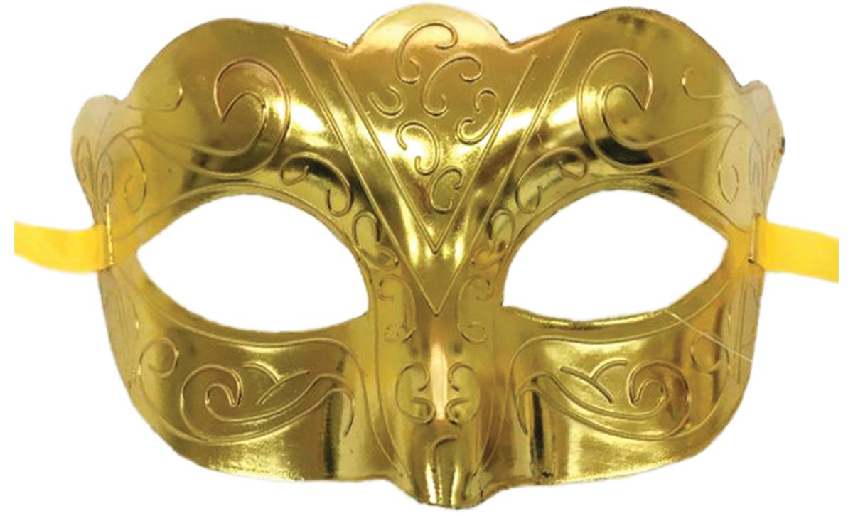 Маска карнавальная  Блестящая золотая , 15,5 х 9 х 7,5 см -  Маски карнавальные