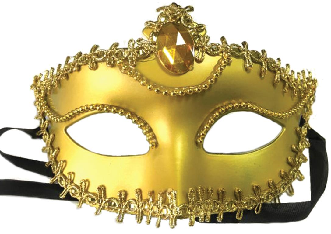 Маска карнавальная  Золотая , 11,7 х 17 х 7,5 см -  Маски карнавальные
