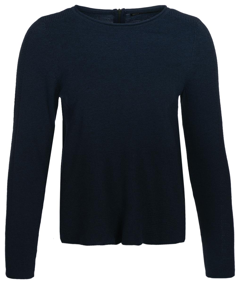 Джемпер женский Only, цвет: синий. 15140098_Sky Captain. Размер 42/44 шорты женские only цвет синий 15134356