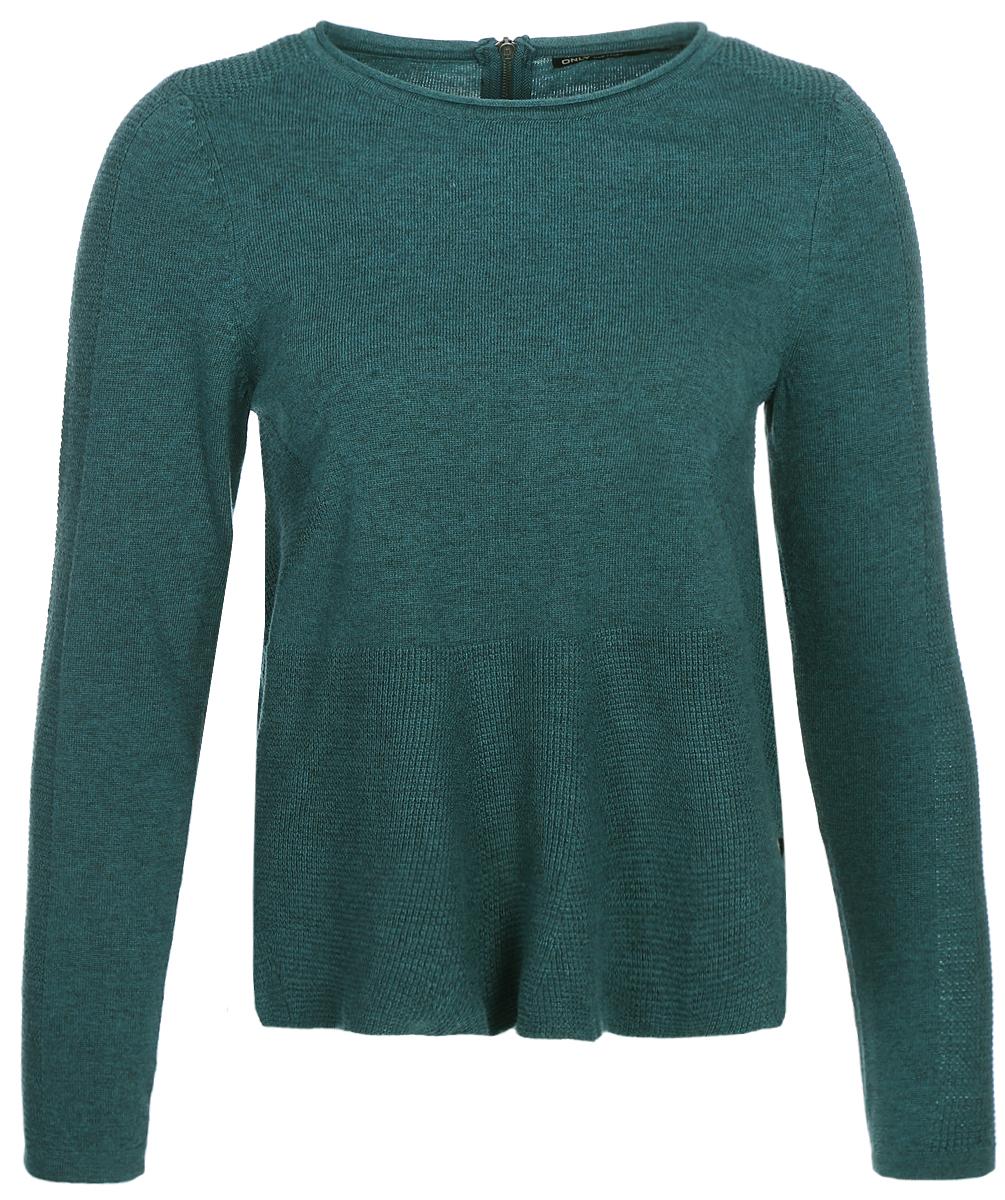 Джемпер женский Only, цвет: зеленый. 15140098_Atlantic Deep. Размер 42/44 женский гардероб